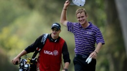 Peterson celebrates after his hole-in-one ace at the 2012 U.S. Open (Source: Sportige.com)