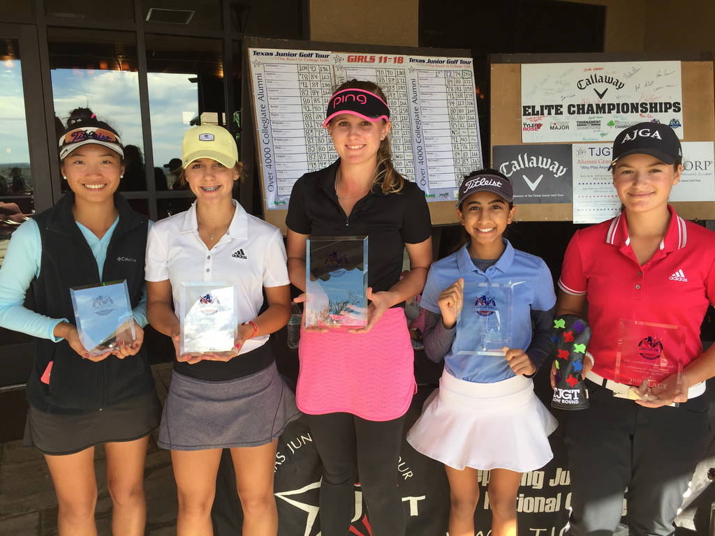 Winners of girls young and older juniors