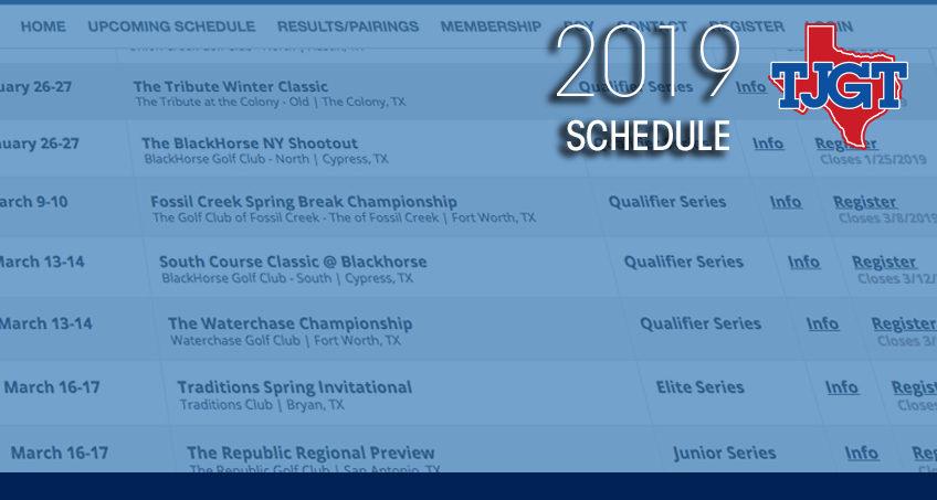 2019 Spring Calendar Released