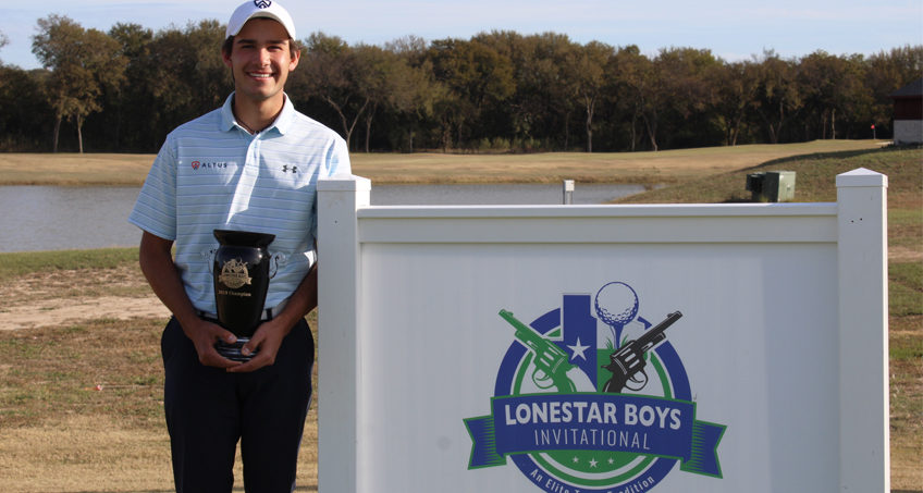 Gonzalez Captures 2019 LoneStar Boys Title with Strong Opening Round